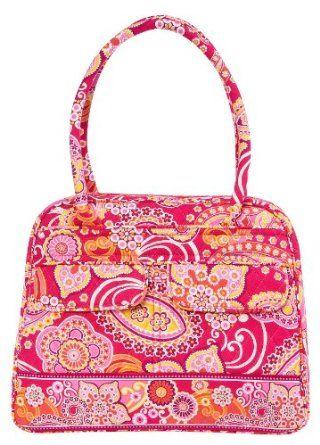 Vera Bradley Bowler Bag Purse In Raspberry Fizz 69 95