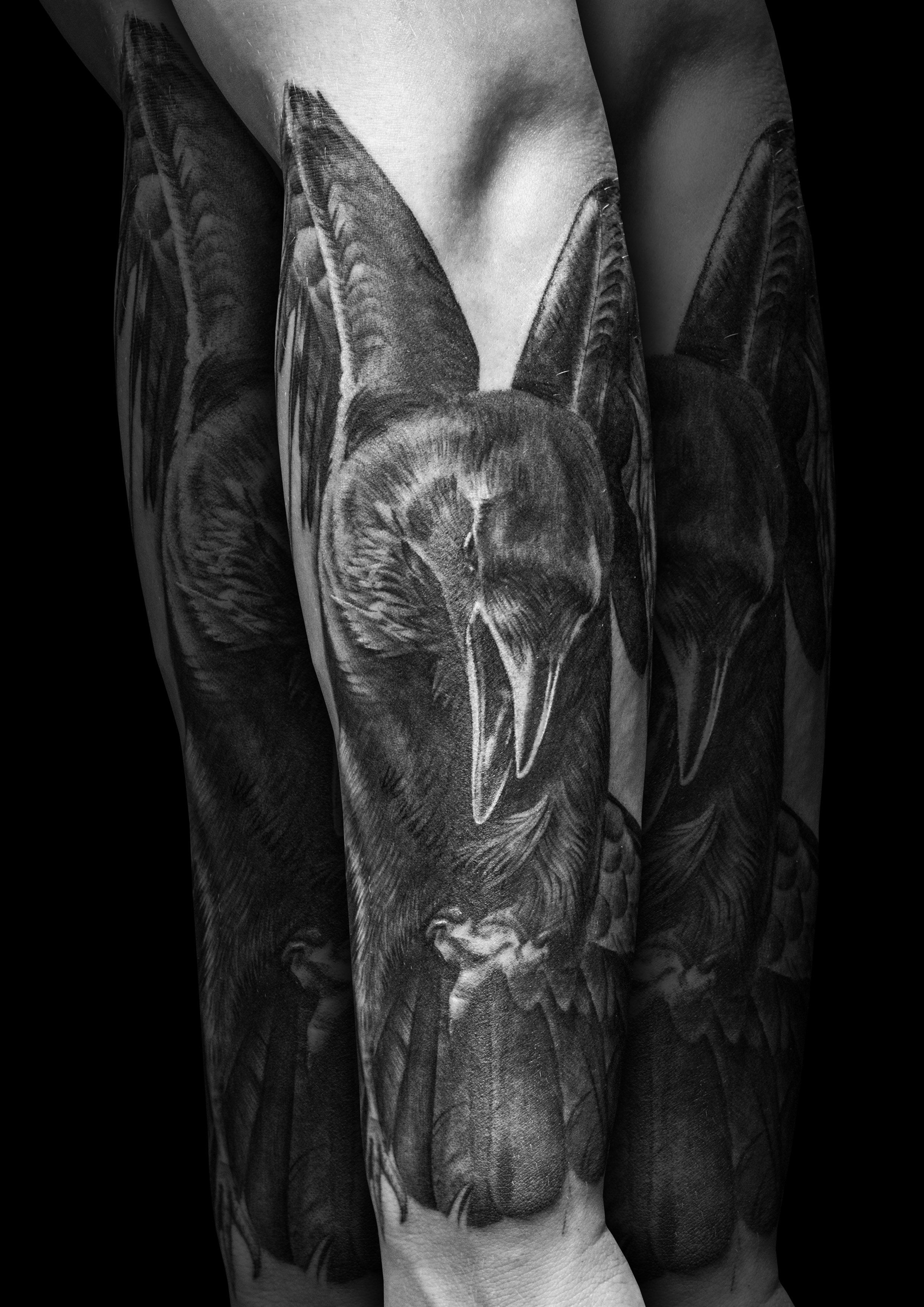 Realistic Raven Tattoo By Steve Toth Tattoos Raven