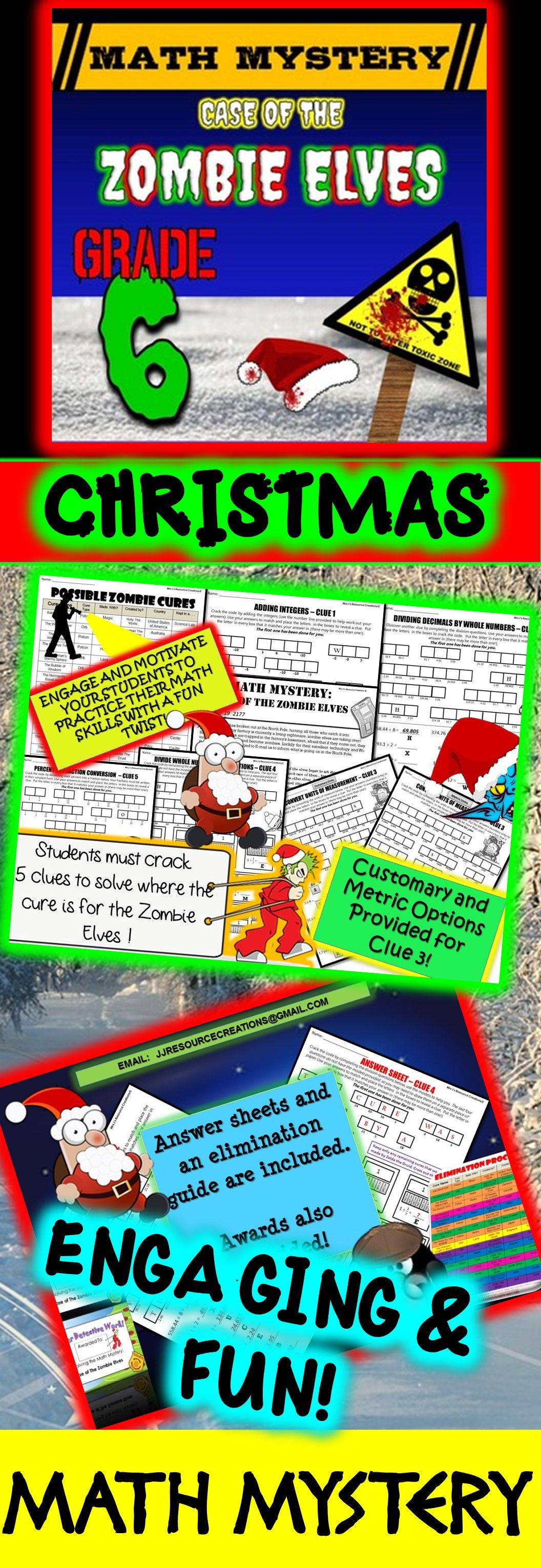 6th Grade Christmas Activity