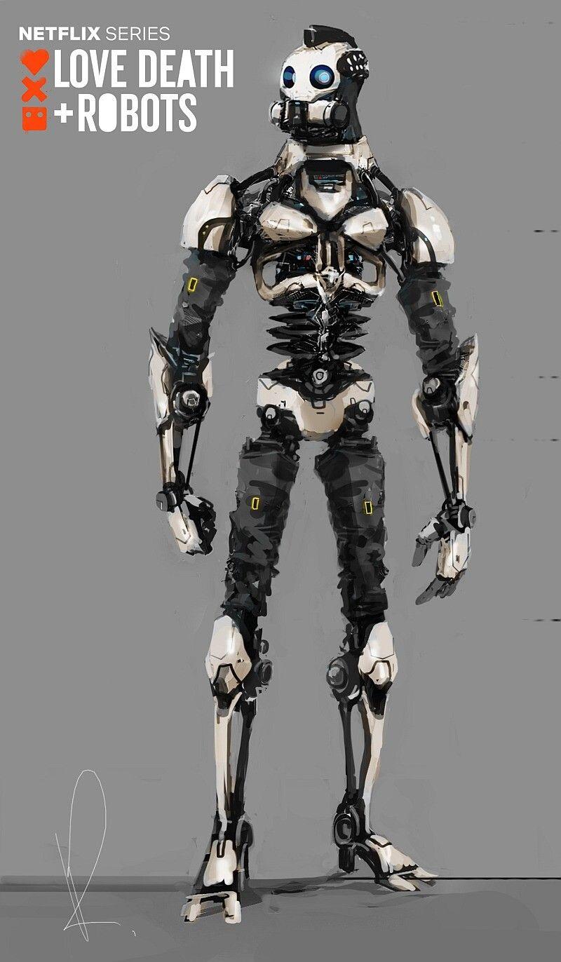 Artstation Love Death Robots Xbot 4k Character Concept Development Marcin Rubinkowski Robots Drawing Robots Concept Robot Concept Art