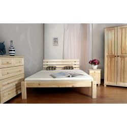 Photo of Single bed / guest bed pine solid wood natural A3, incl. Slatted frame – dimensions 140 x 200 cm each
