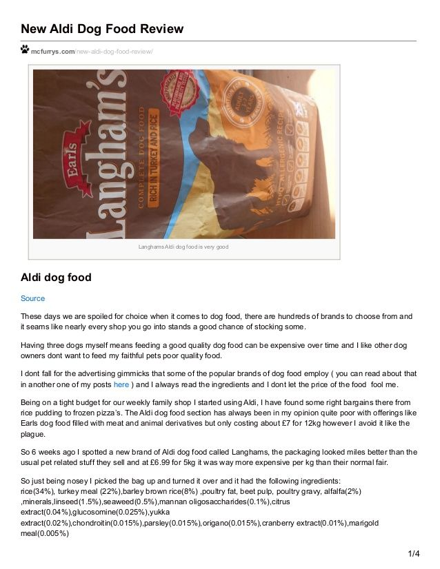 New Aldi Dog Food Review Mcfurrys Com New Aldi Dog Food Review