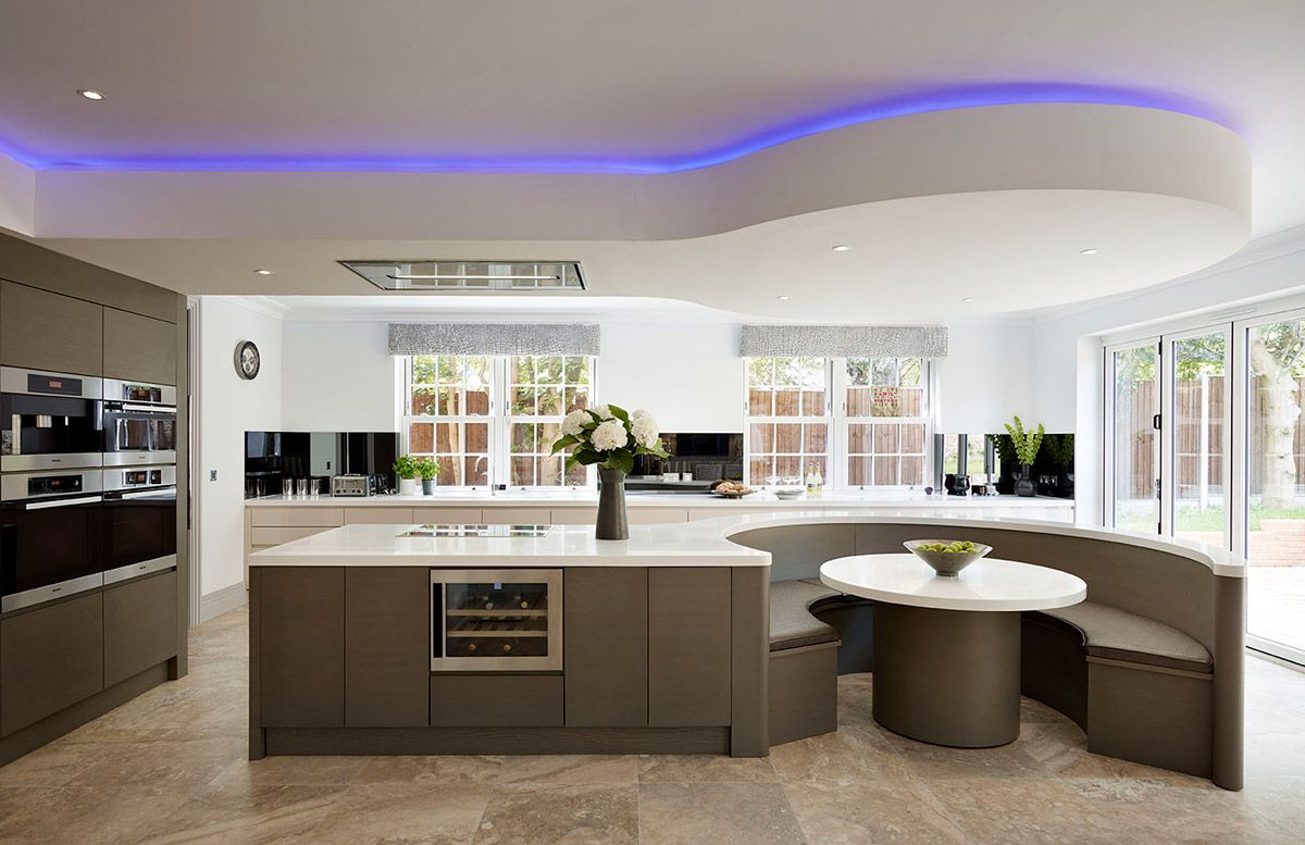 50 Stunning Modern Kitchen Island Designs Modern Kitchen Island Design Curved Kitchen Island Modern Kitchen Island
