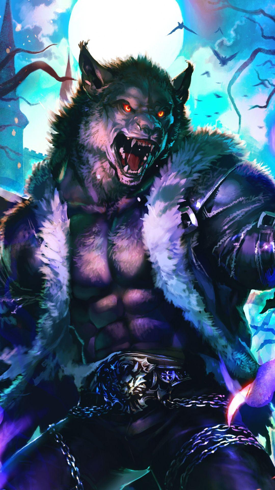 Wolf King Fantasy Monster Art Wallpaper Werewolf Art Wolf Warriors Furry Wolf
