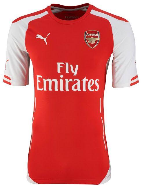 Todo sobre las camisetas del fútbol.  Arsenal Home T-Shirt 14 15  9ine 01635c330da