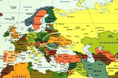 Europe Asia Map