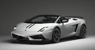 This is Tony's dream car. It's a Lamborghini Gallardo LP 570-4 Spyder, in silver - the color he mentioned. He doesn't know it yet, but he's getting one.