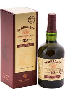 """Redbreast 12 Year Old Cask Strength Irish Whiskey.  Aged for 12 years, this #whiskey was named """"Irish Whiskey of the Year"""" by Whisky Advocate. 