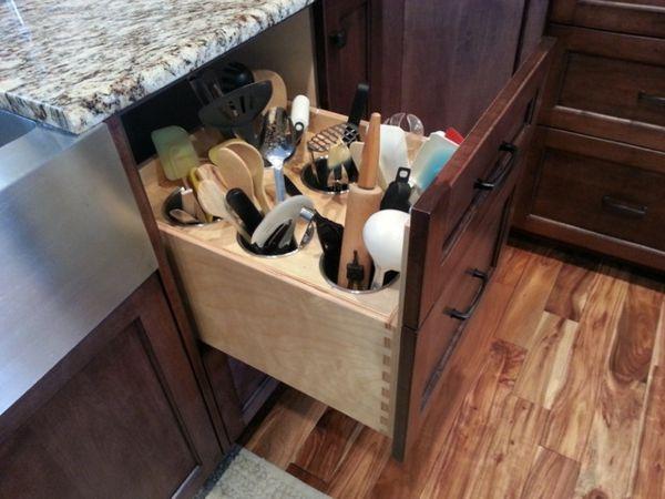 Organisation Küche Unordentliche Köche Schrank Holz | Küche