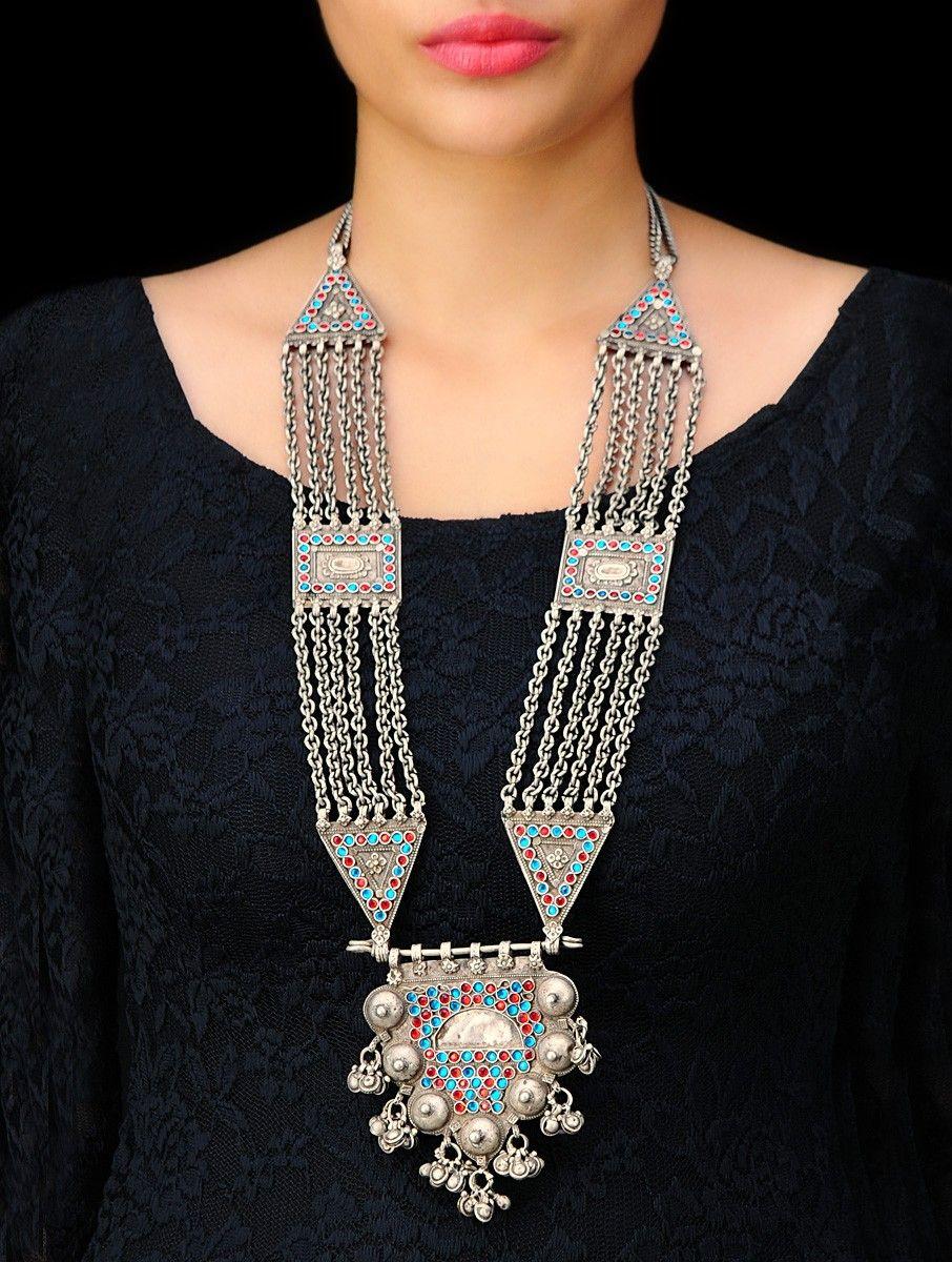 8d758dd8c08bed Adivasi Diva Designer Necklace by Sangeeta Boochra (A Brand of Silver  Centrre), Buy Online Email US - silvercentrre@gmail.com
