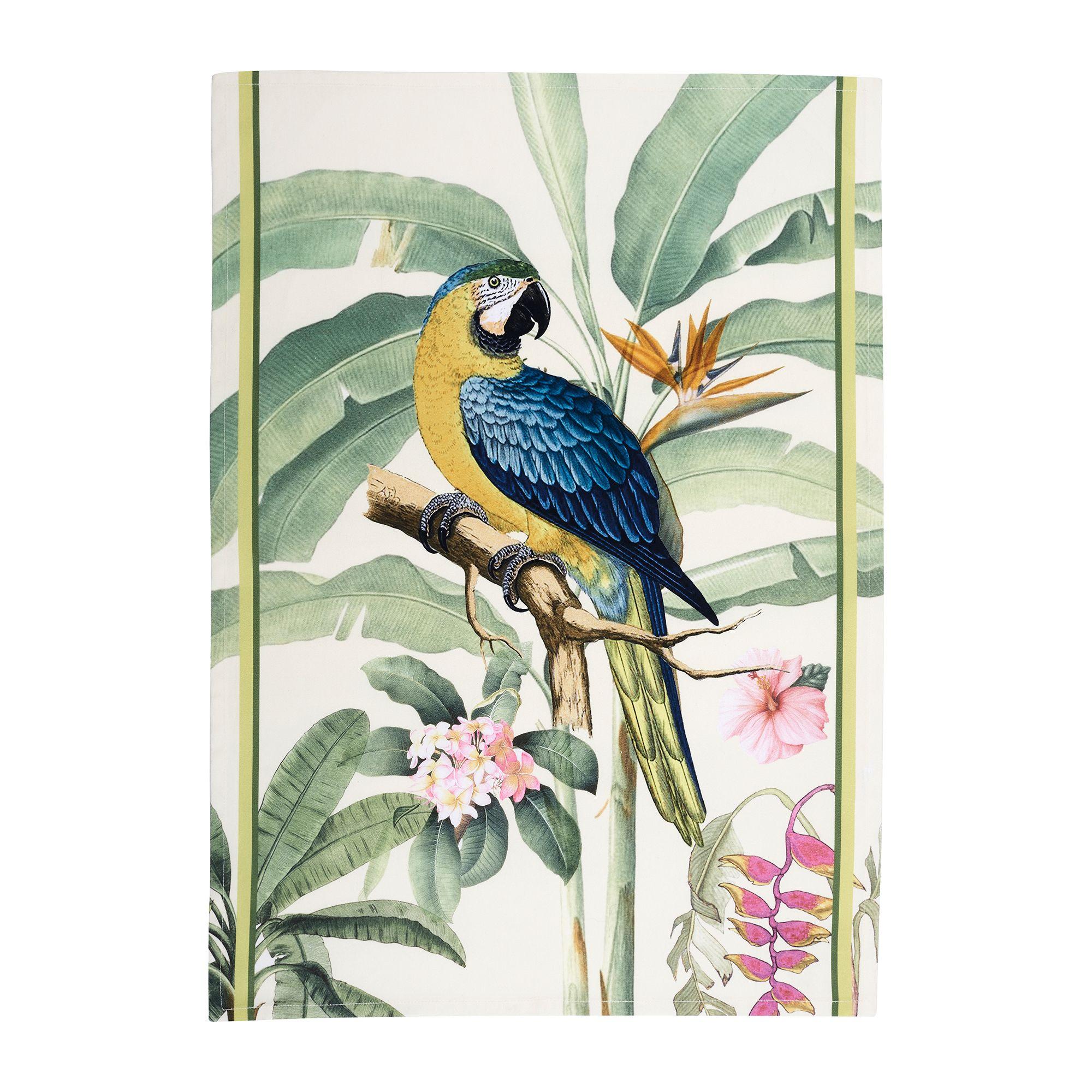 bouchara torchon parrot bouchara collection tropique exotique. Black Bedroom Furniture Sets. Home Design Ideas