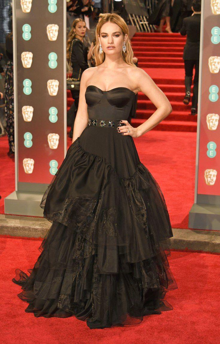 Lily James Nice Dresses Red Carpet Dresses Celebrity Dresses