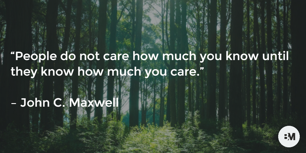 Care about what you do.