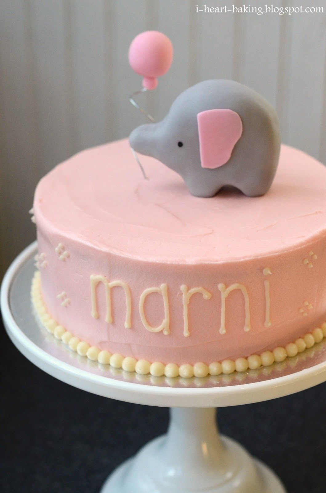 girl baby shower cakes | Then it was time to bring it to the baby ...