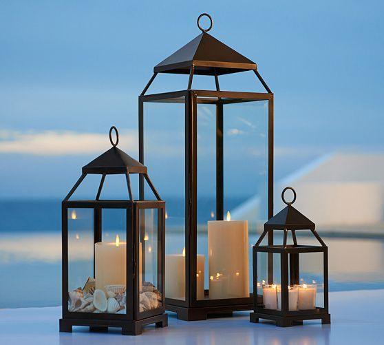 Malta Lantern Bronze Finish Summer Outdoor Decor Outdoor Decorative Lanterns Pottery Barn Lanterns