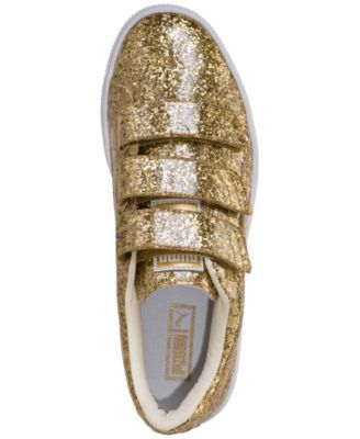 6556315dee6ad3 Puma Women s Basket Strap Glitter Casual Sneakers from Finish Line - Finish  Line Athletic Sneakers - Shoes - Macy s