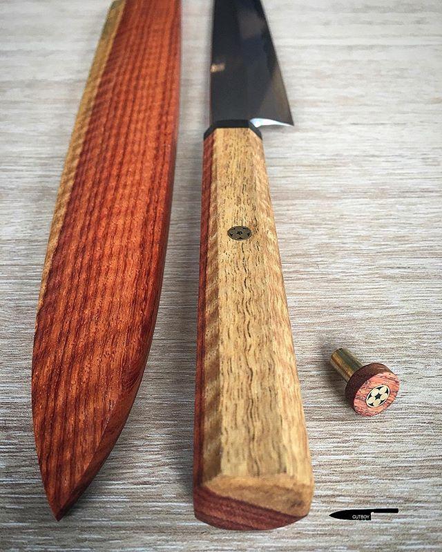 Happy December Cutboy Custom Saya Thai Local Wood Handle Thai Local Wood Octagon Blade Aogami Super 300mm Konosuke Typ Wood Handle Kitchen Knives Knife