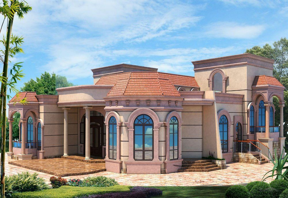 اشكال بيوت من الخارج دور واحد موسوعة طيوف House Design House Styles House