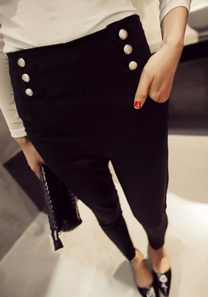 Sailor Style Black Leggings