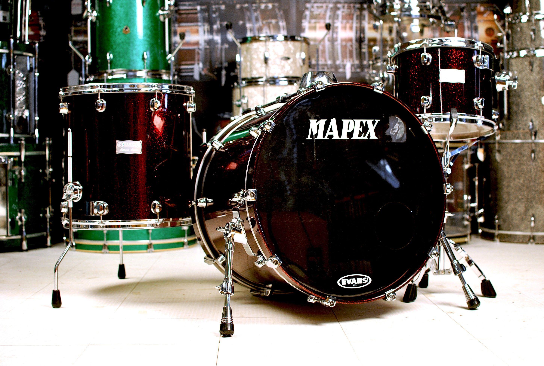 used mapex saturn 3pc drum set cherry sparkle used drum sets used drum center of. Black Bedroom Furniture Sets. Home Design Ideas