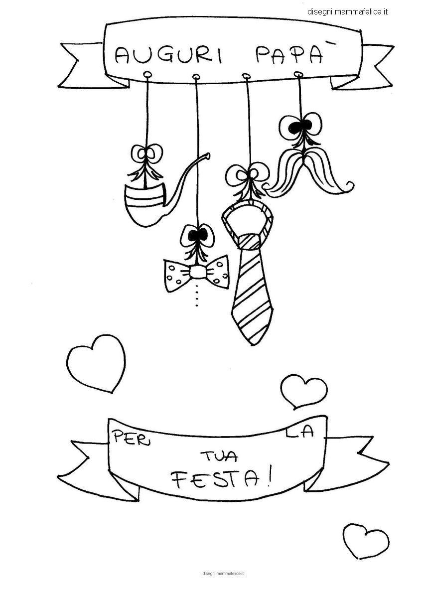 Disegni per bambini un augurio da colorare per la festa for Immagini festa del papa da colorare