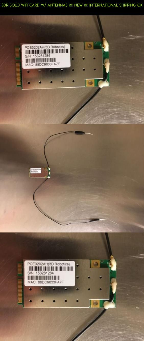 3dr Solo Wifi Card w/ Antennas • New • International