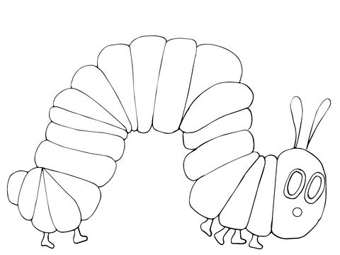 Very Hungry Caterpillar coloring page from The Very Hungry