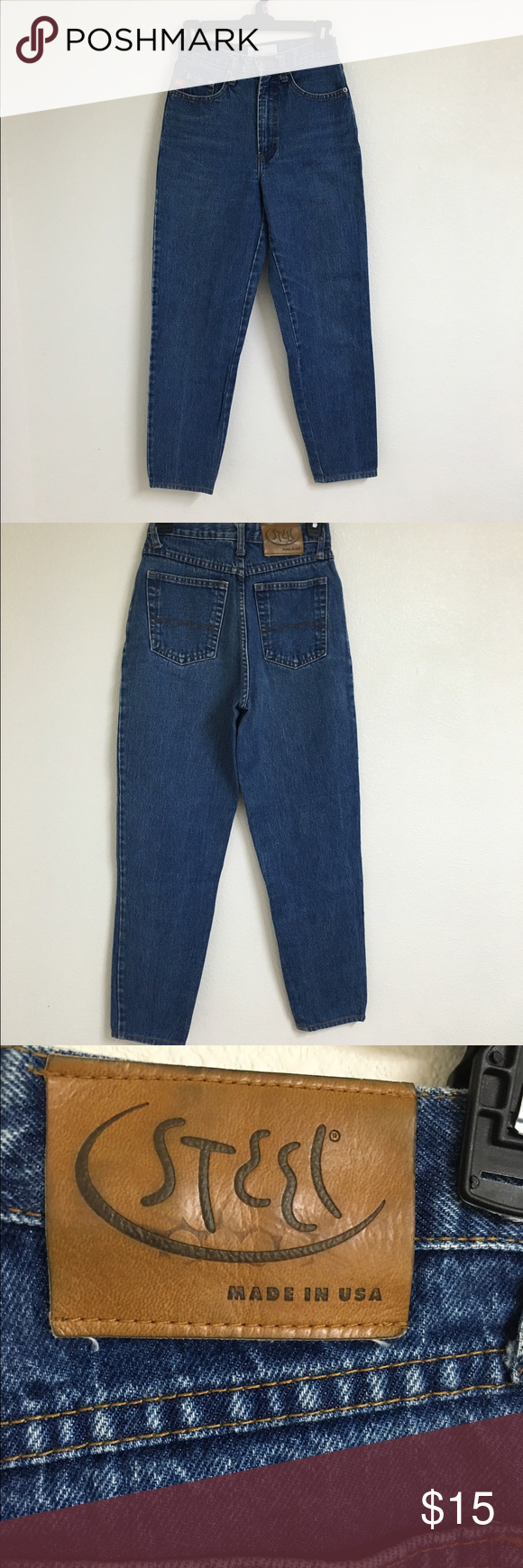 """Vintage Jeans Selling them for my mom! Size 5 jeans! Let me know if you need further measurements! 13"""" lying across flat. NOT LEVI'S. ONLY LISTED FOR EXPOSURE Levi's Jeans"""