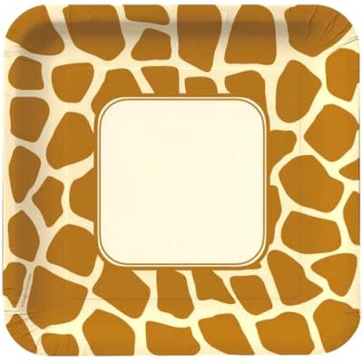 Giraffe 9 inch Lunch/Dinner Plates | Mom\'s Zoo Dealio | Pinterest ...