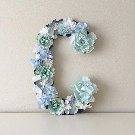 Floral Letter, Custom Flower Letter, Nursery Letter, Baby Letter