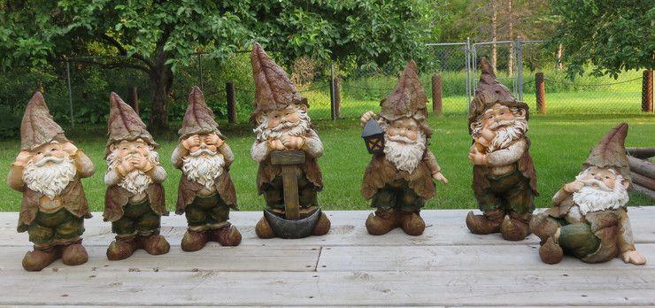 Gnome In Garden: Garden Figurines Statues