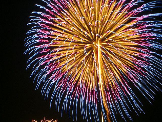 Fireworks at Itabashi in Tokyo