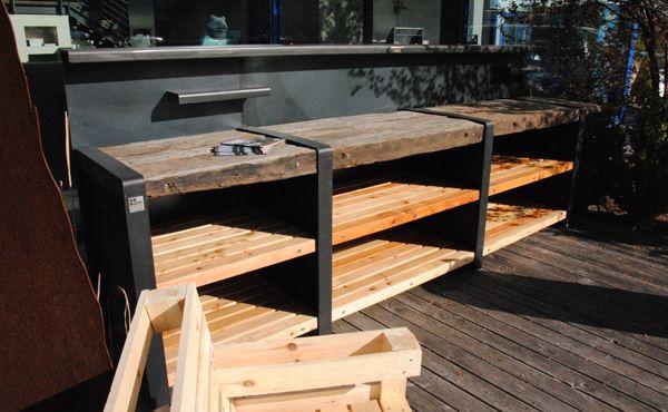 Outdoorküche Holz Xl : Die outdoorküche gerade variante xl zwei er elemente ein er