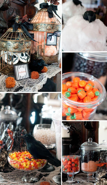 Halloween candy buffet idea - Halloweekend Countdown Inspiration Halloween Candy Buffetideas