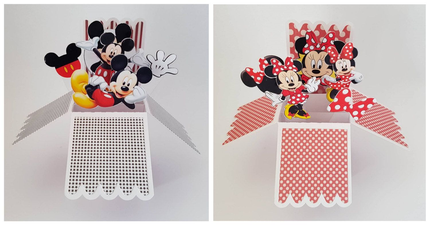 3D Pop Up Personalised Greeting Card Hand Crafted Mickey