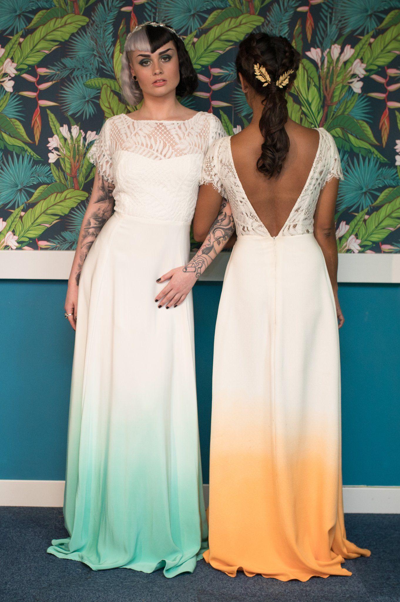 Pin by Lauren Mirelli on wedding dresses | Pinterest | Dip dye ...
