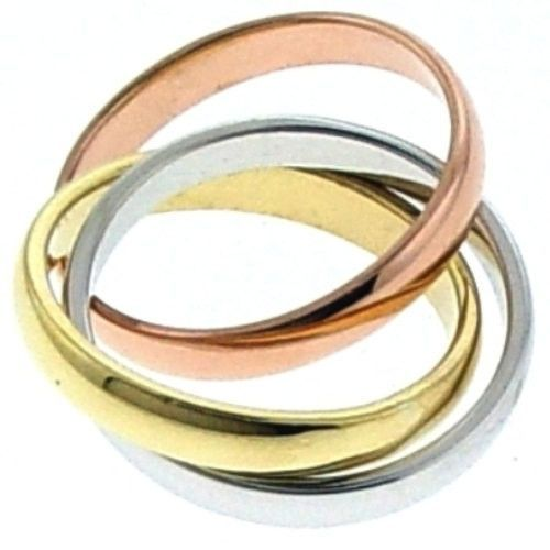 14K Gold Moving Wedding Ring Band, For the Bride and Groom