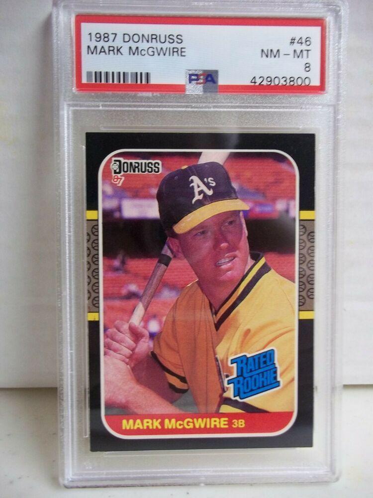 1987 Donruss Mark Mcgwire Rc Psa Nm Mt 8 Baseball Rookie Card 46