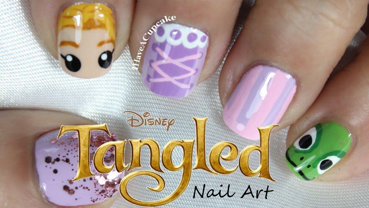 Tangled Nail Art   Nails-Characters   Pinterest   Nagelschere