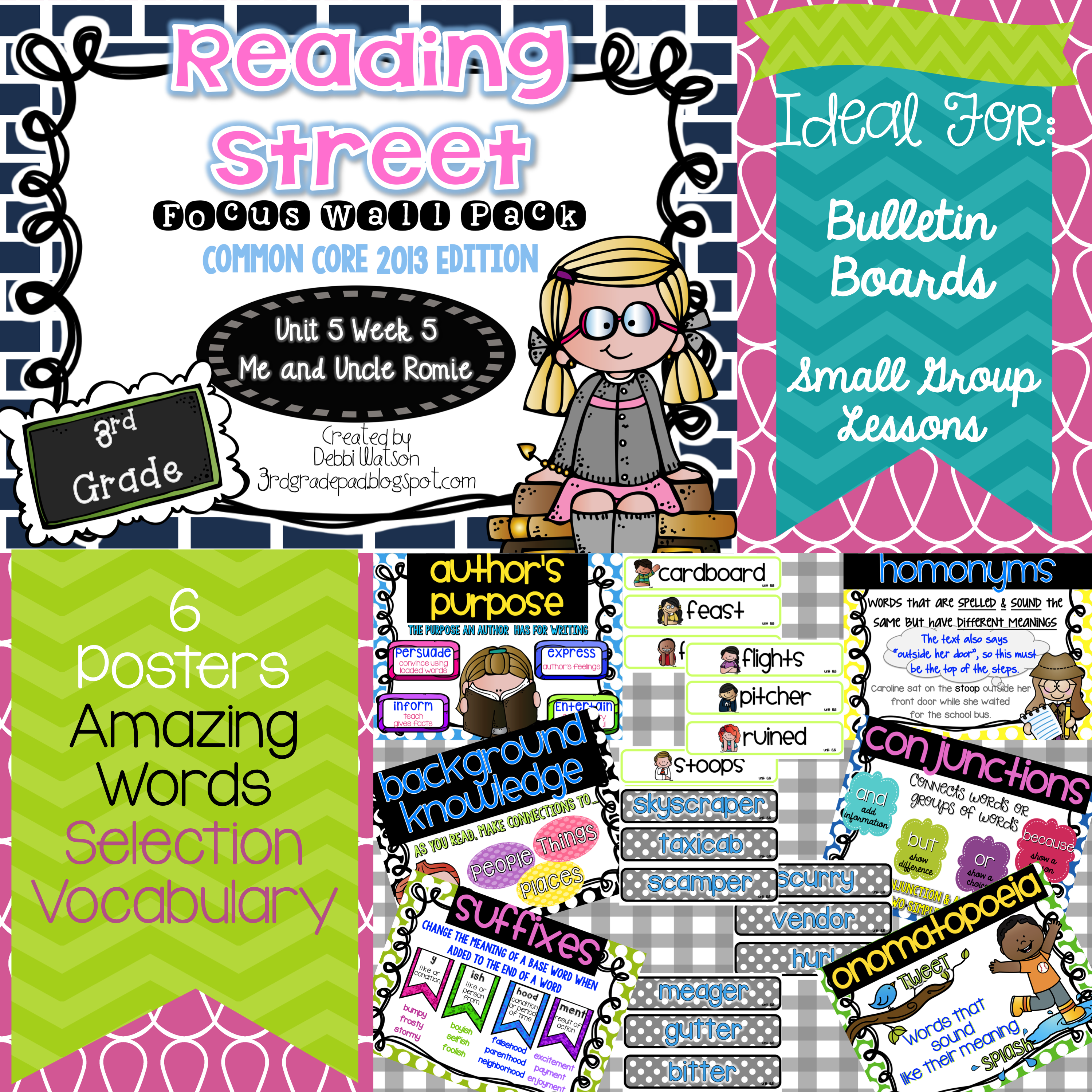 Reading Street 3rd Grade Focus Wall Posters Unit 5