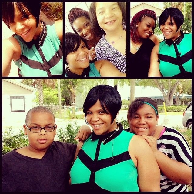 """@Stephanie Brooks's photo: """"My familia! Happy Mothers day to my sister @Diamond Lacore and my Momma! I love you ladies!  #sisters #moms #selfiewithmom #kids #happymothersday #family"""""""
