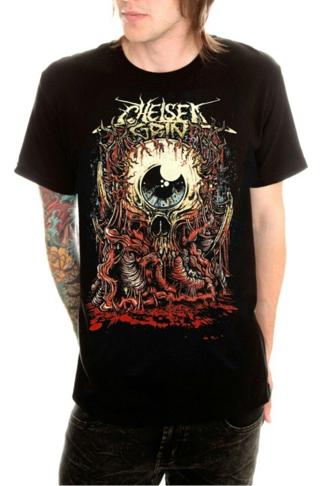 CHELSEA GRIN Logo Black T-shirt Rock Band Shirt Heavy Metal Tee