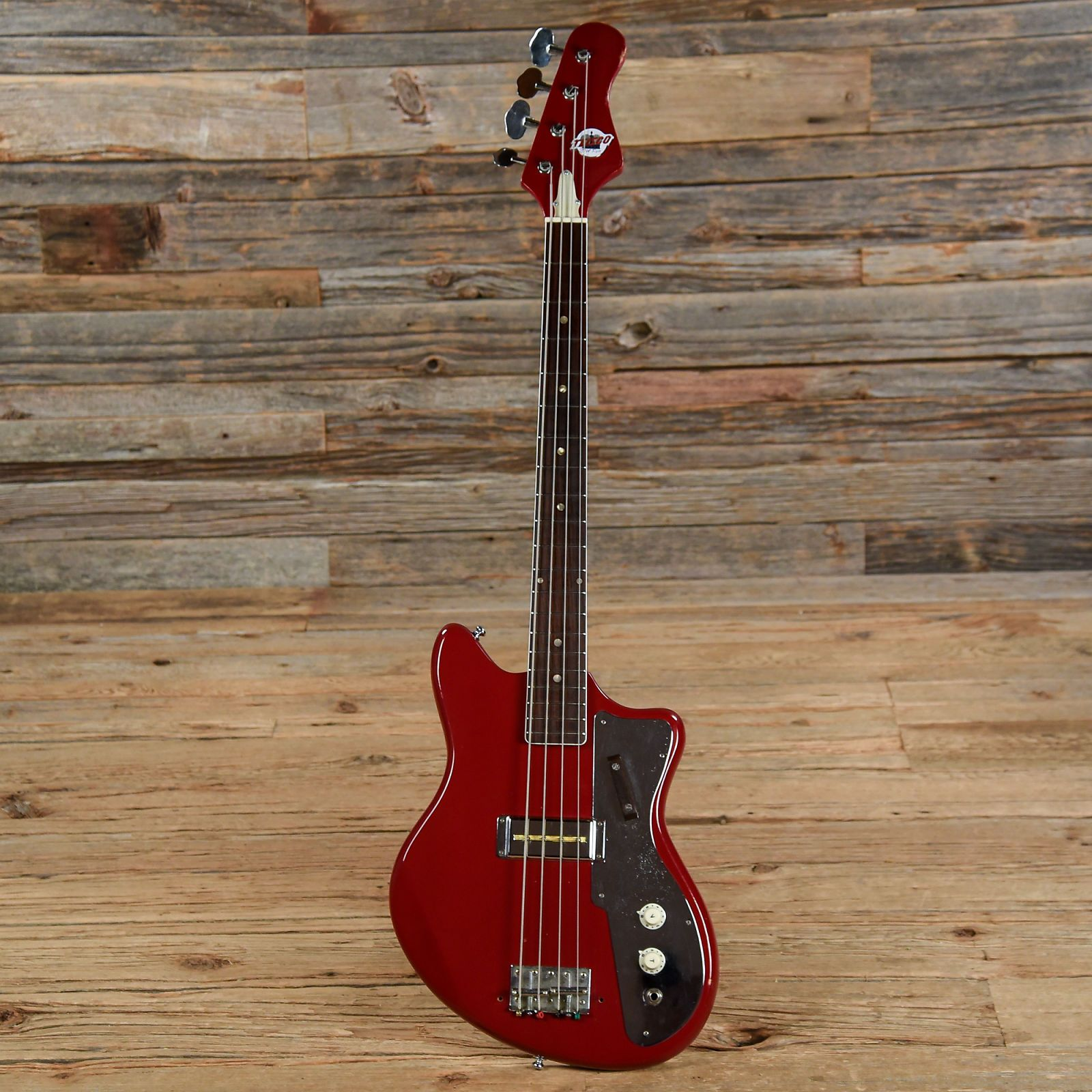 Teisco Del Rey Single Pickup Electric Bass Red 1960s In 2018 On An Guitar Or Acoustic Guitars Custom Pick