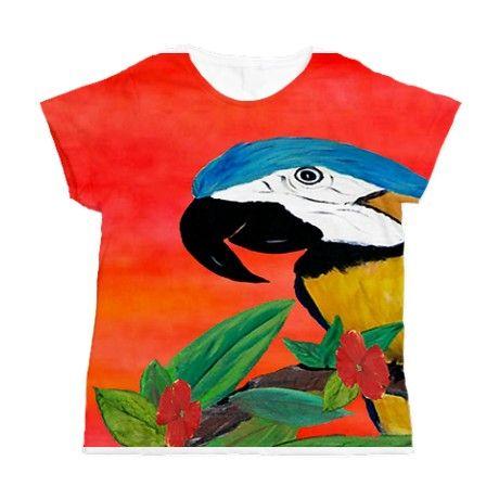 Parrot Head Womens All Over Print T-Shirt on CafePress.com
