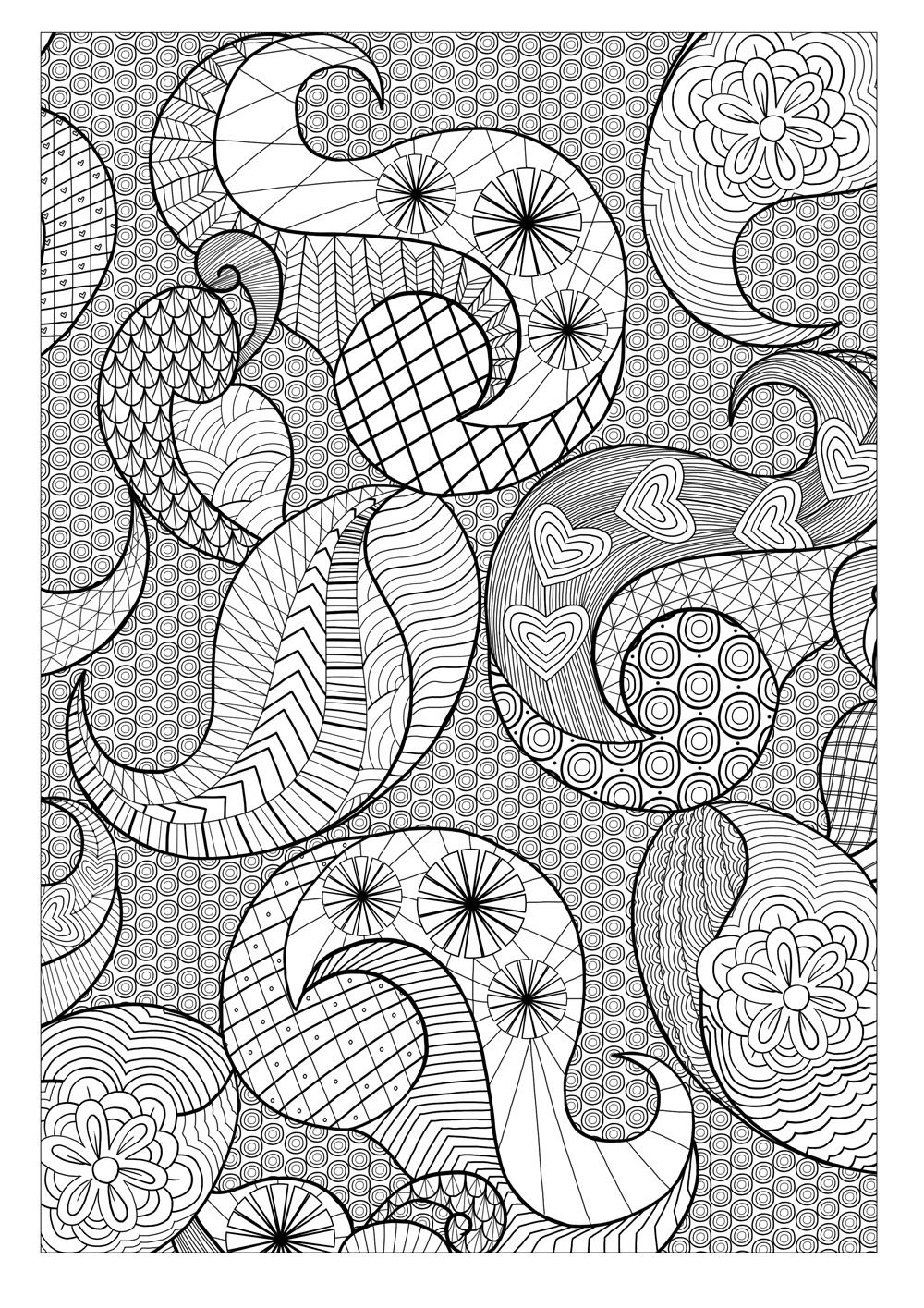Creative Colouring For Grown Ups 60s Patterns Coloring Pages
