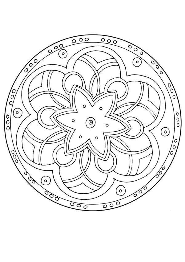 Advanced Mandala Coloring Pages Mandala 128 Mandalas For