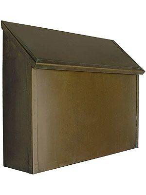 Arts Crafts Handcrafted Solid Brass Horizontal Mailbox Craftsman Style Metal Mailbox Antique Hardware