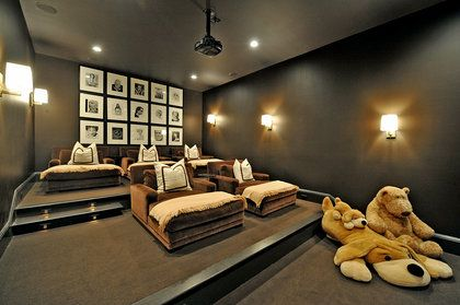 17 best images about media rooms on pinterest movie reels movie nights and theater rooms - Media Room Design Ideas