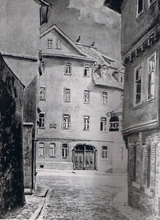 Schillers erste [[Wohnung]] in der Jenergasse 26; 1945 im
