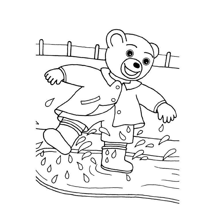 Coloriage Petit Ours Brun Automne A Imprimer Gratuit Pob Bear